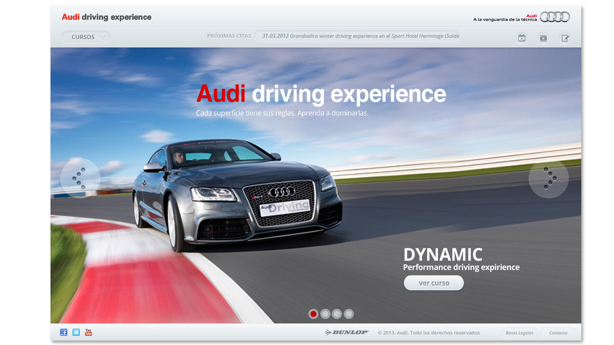Web Audi Driving Experience, home